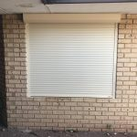 Electric home security shutter