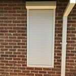 long roller shutter on window